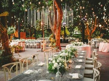 Banquete clásico de boda
